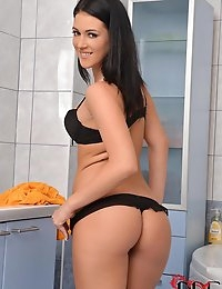 Babe Shoots Water Up Her Crack photo #16